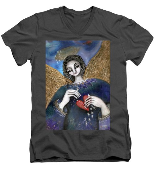 Mender Of Hearts Angel Men's V-Neck T-Shirt