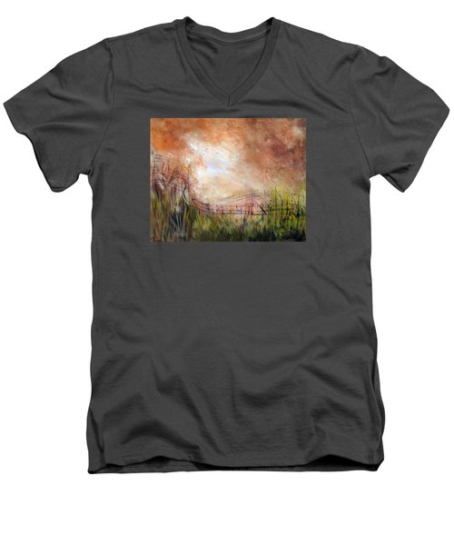 Mending Fences Men's V-Neck T-Shirt by Roberta Rotunda