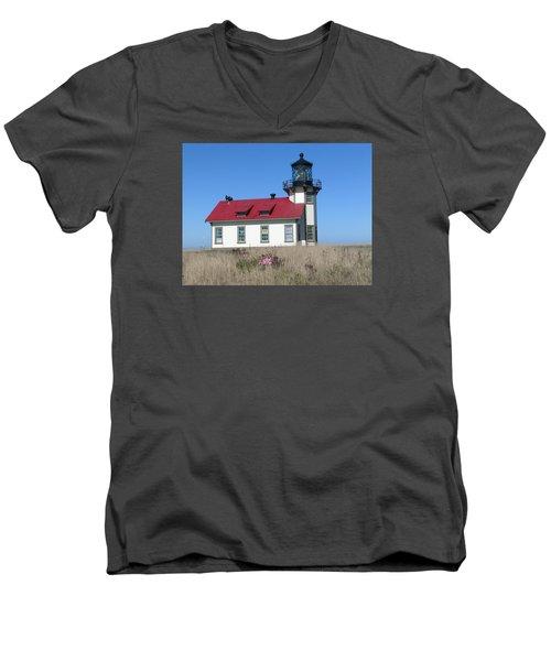 Mendocino Lighthouse Men's V-Neck T-Shirt
