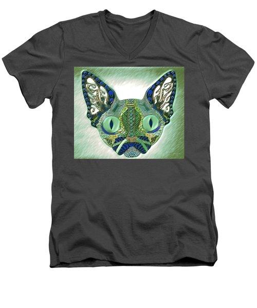 Meow Cat Men's V-Neck T-Shirt