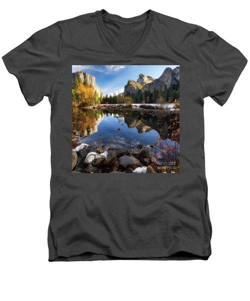 Merced Reflections Men's V-Neck T-Shirt