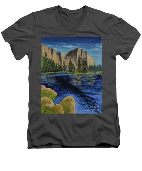 Merced River, Yosemite Park Men's V-Neck T-Shirt