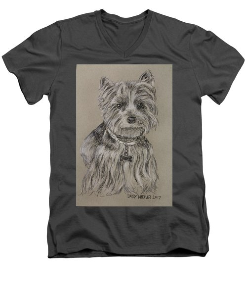 Mercedes The Shih Tzu Men's V-Neck T-Shirt