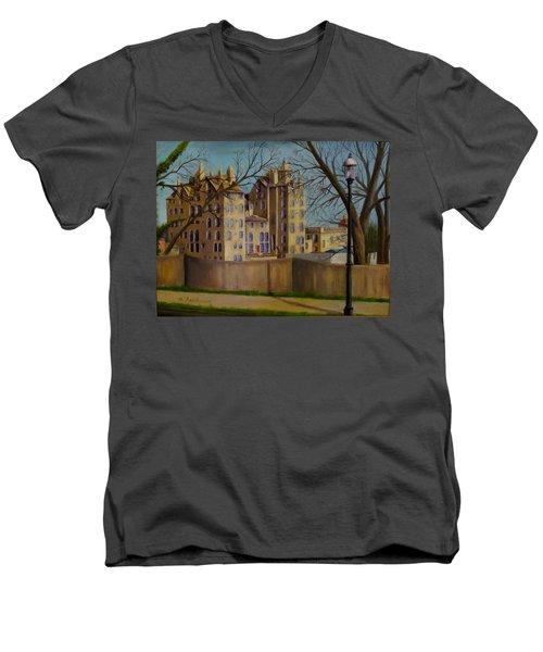 Mercer Museum Men's V-Neck T-Shirt by Oz Freedgood