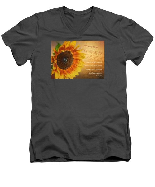 Mercy And Grace Men's V-Neck T-Shirt