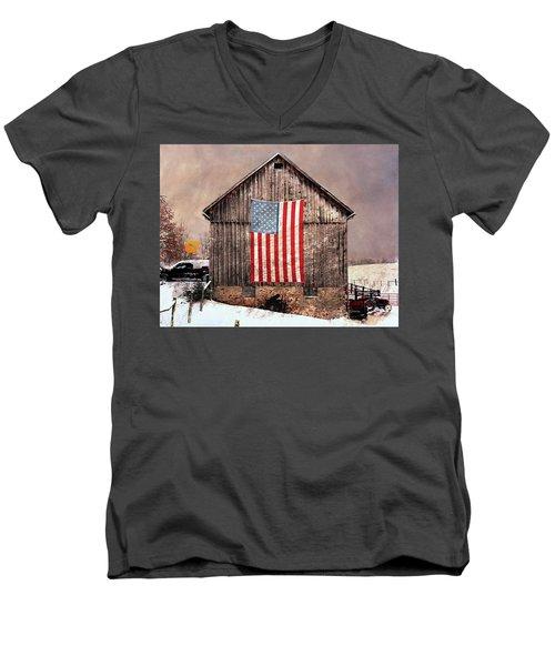 Merica Men's V-Neck T-Shirt