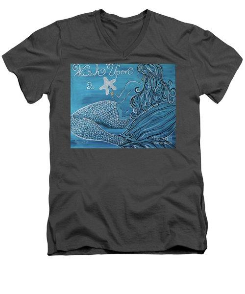 Mermaid- Wish Upon A Starfish Men's V-Neck T-Shirt