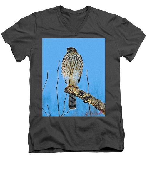 Men's V-Neck T-Shirt featuring the digital art Merlin    Not The Majician by John Selmer Sr