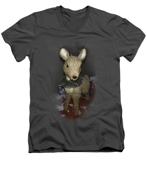 Merry Christmas Deer Men's V-Neck T-Shirt