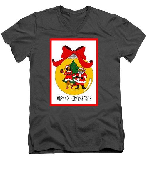 Merry Christmas Men's V-Neck T-Shirt by Diamin Nicole