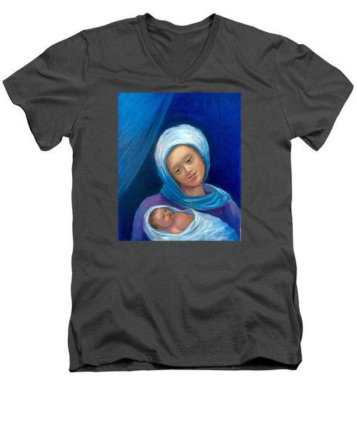 Merry Christmas Men's V-Neck T-Shirt by Laila Awad Jamaleldin