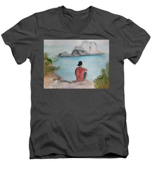 Message In A Bottle Men's V-Neck T-Shirt