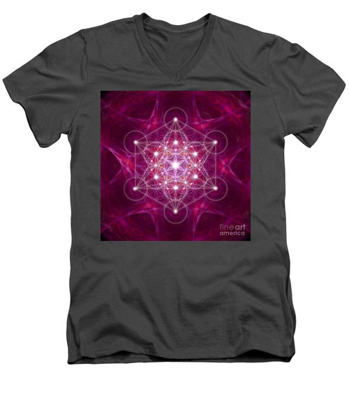 Metatron Cube Fractal Men's V-Neck T-Shirt