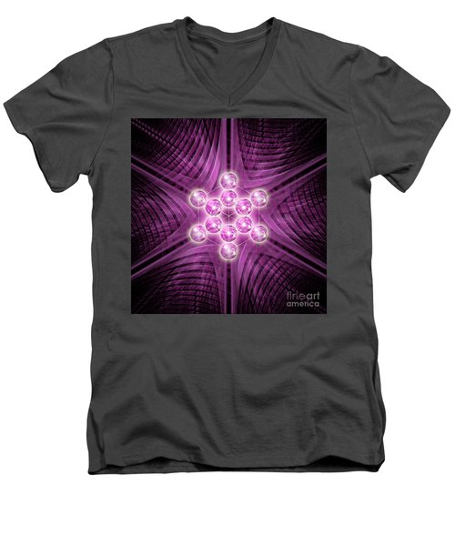 Metatron's Cube Atomic Men's V-Neck T-Shirt