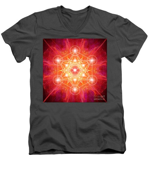 Metatron's Cube Light Men's V-Neck T-Shirt