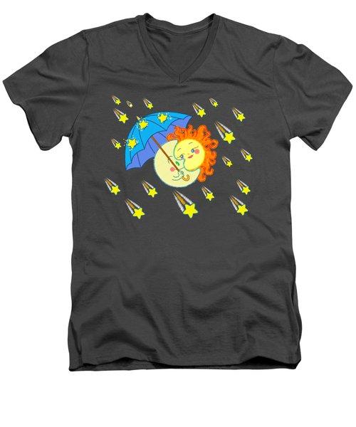 Meteor Shower Men's V-Neck T-Shirt
