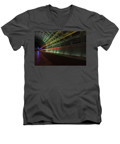 Metro Lights Men's V-Neck T-Shirt
