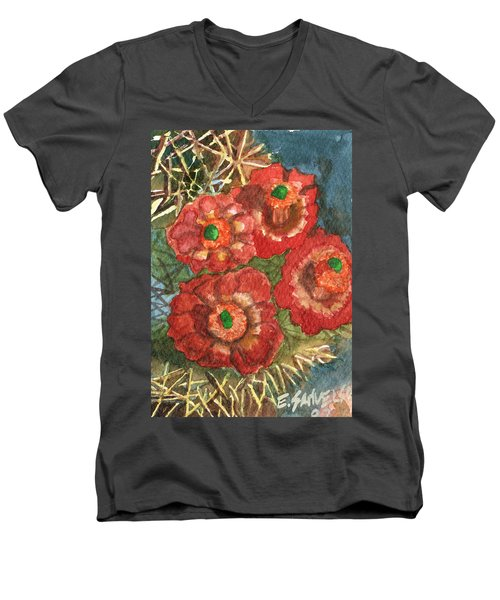 Mexican Pincushion Men's V-Neck T-Shirt by Eric Samuelson