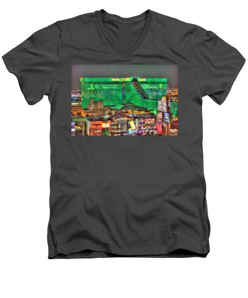 Mgm Grand Las Vegas Men's V-Neck T-Shirt