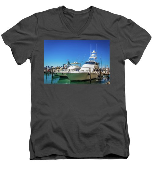Miami Beach Marina 4528 Men's V-Neck T-Shirt