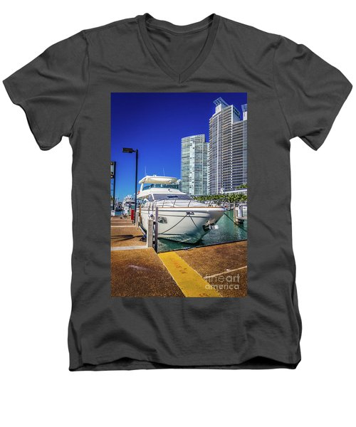 Miami Beach Marina 4578 Men's V-Neck T-Shirt