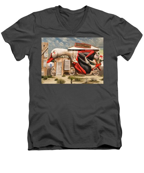 Men's V-Neck T-Shirt featuring the digital art Miami Graffiti by Jeff Burgess