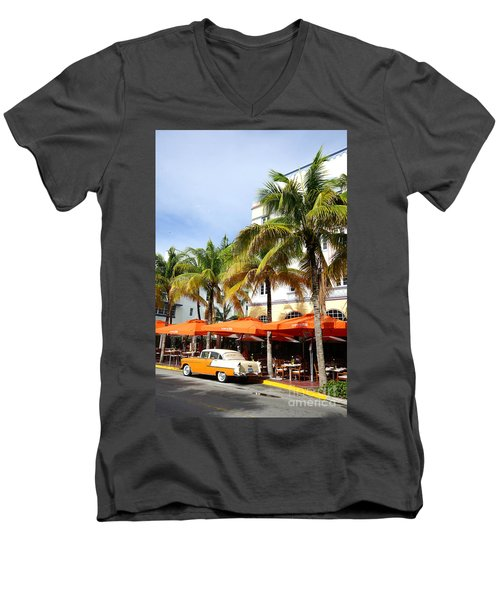 Miami South Beach Ocean Drive 8 Men's V-Neck T-Shirt by Nina Prommer