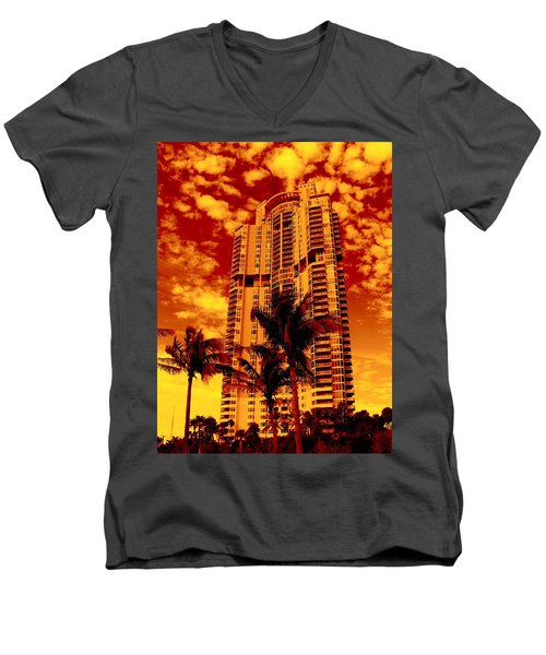 Miami South Pointe IIi Highrise Men's V-Neck T-Shirt