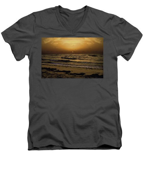 Miami Sunrise Men's V-Neck T-Shirt