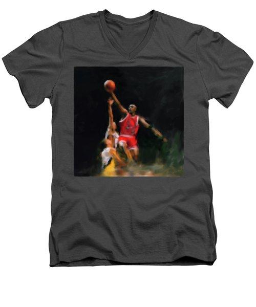 Michael Jordan 548 1 Men's V-Neck T-Shirt by Mawra Tahreem