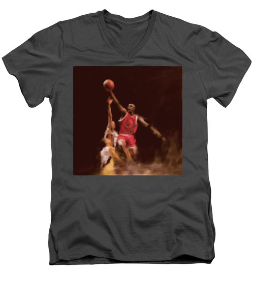 Michael Jordan 548 2 Men's V-Neck T-Shirt by Mawra Tahreem