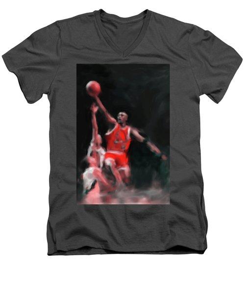 Michael Jordan 548 3 Men's V-Neck T-Shirt by Mawra Tahreem