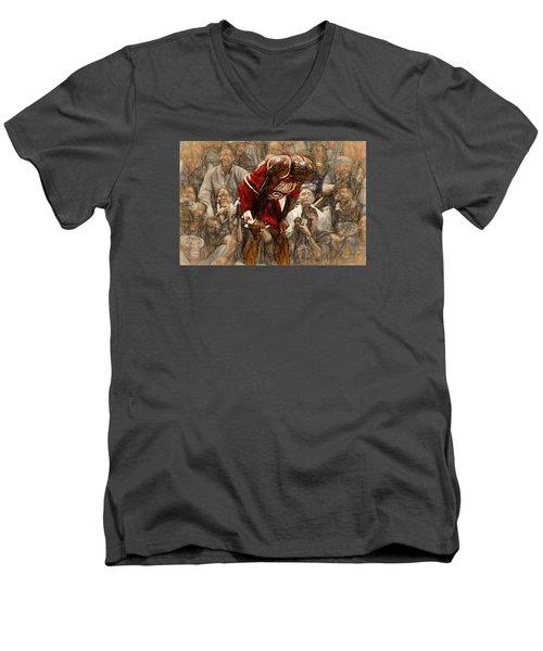 Michael Jordan The Flu Game Men's V-Neck T-Shirt