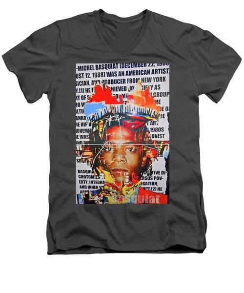 Michel Basquiat Men's V-Neck T-Shirt