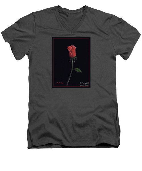 The Perfect Rose 2 Men's V-Neck T-Shirt by Becky Lupe