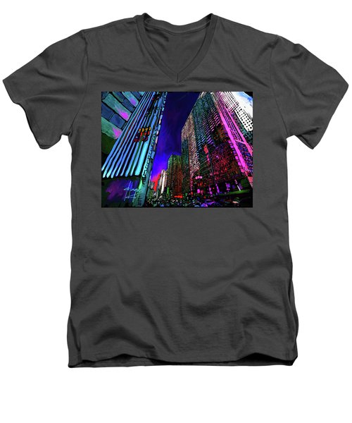 Michigan Avenue, Chicago Men's V-Neck T-Shirt