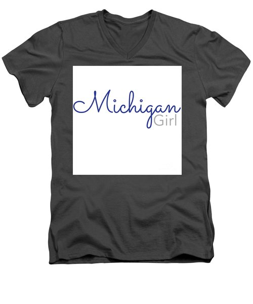 Michigan Girl Men's V-Neck T-Shirt