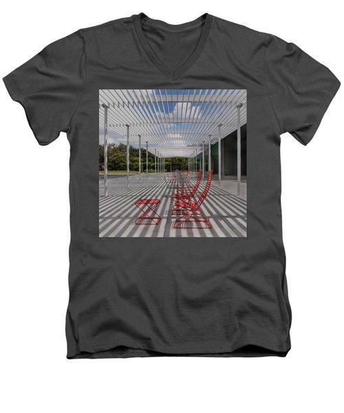 Mid-day Lines Men's V-Neck T-Shirt