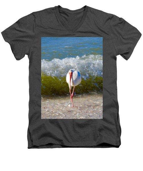 Mid Wave Feeding Men's V-Neck T-Shirt