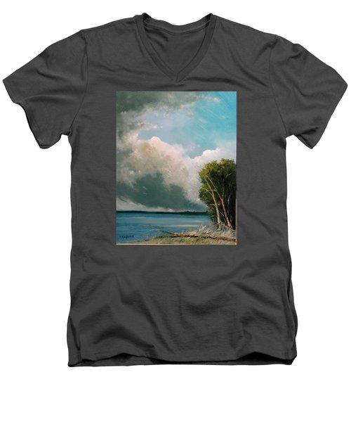 Midday Clouds Men's V-Neck T-Shirt