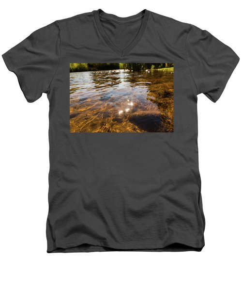 Middle Of The River Men's V-Neck T-Shirt