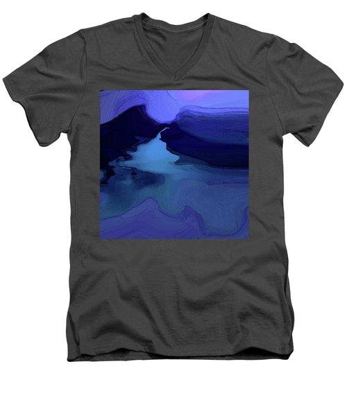 Midnight Blue Men's V-Neck T-Shirt