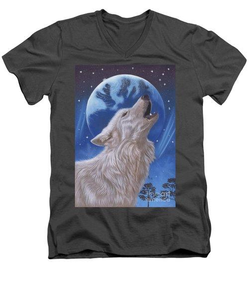 Midnight Caller Men's V-Neck T-Shirt