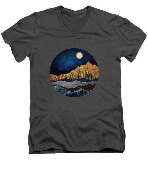 Midnight Desert Moon Men's V-Neck T-Shirt