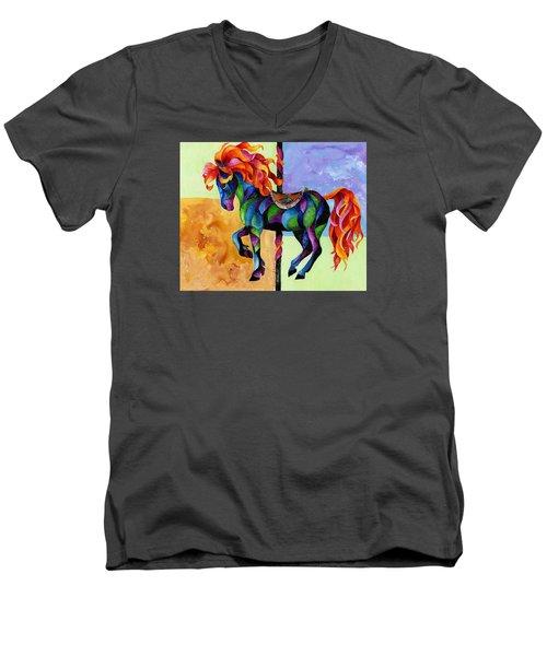 Midnight Fire Men's V-Neck T-Shirt by Sherry Shipley