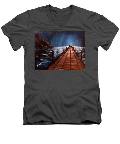 Midnight Heaven Men's V-Neck T-Shirt