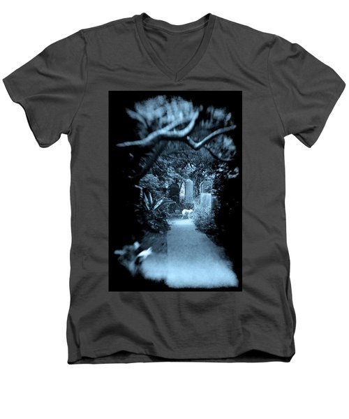 Midnight In The Garden O Men's V-Neck T-Shirt