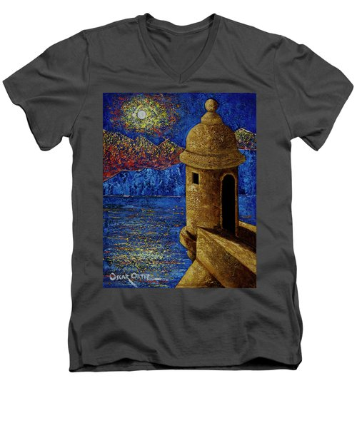 Midnight Mirage In San Juan Men's V-Neck T-Shirt