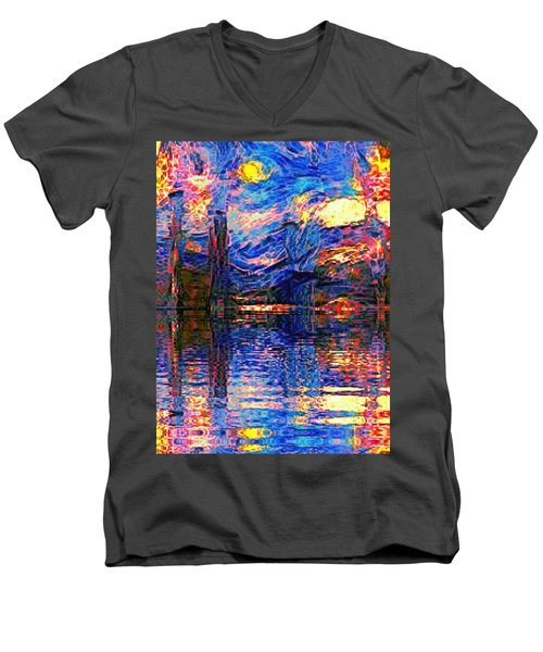 Midnight Oasis Men's V-Neck T-Shirt