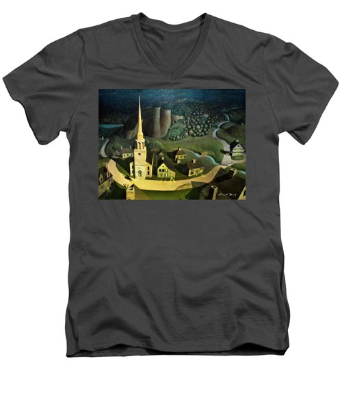 Midnight Ride Of Paul Revere Men's V-Neck T-Shirt